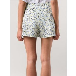 Equipment floral Lewis silk shorts md
